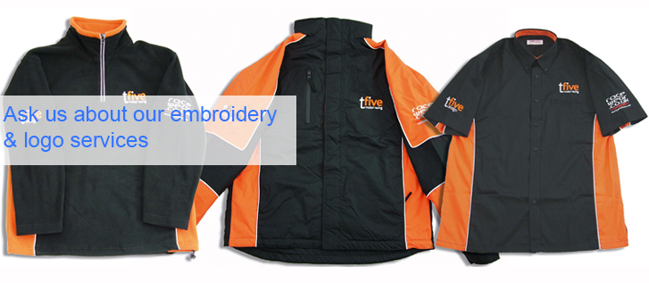 Ask us about our embroidery & logo services