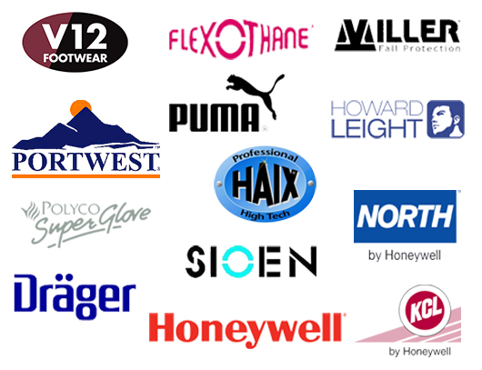 Some brands available through sterling safety services