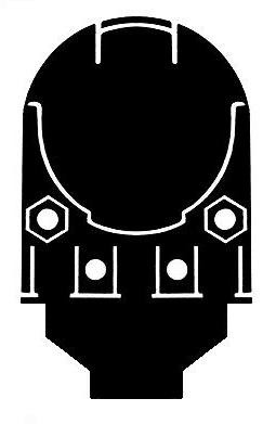 Bilsom Leightning 3721 Helmet Ear Defender/Visor Carrier Adaptors