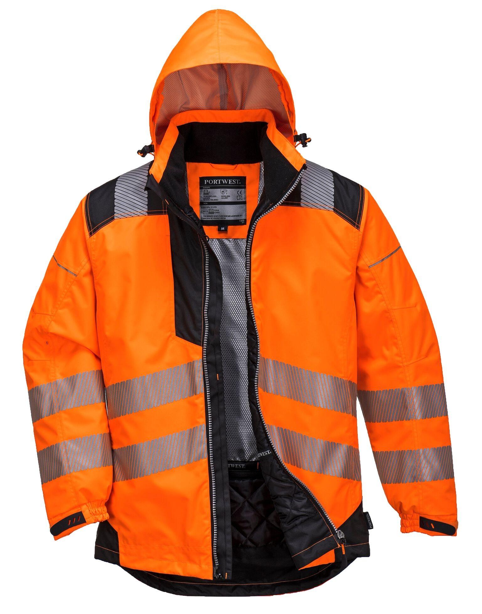 Vision Hi  Viz Rain Jacket Orange