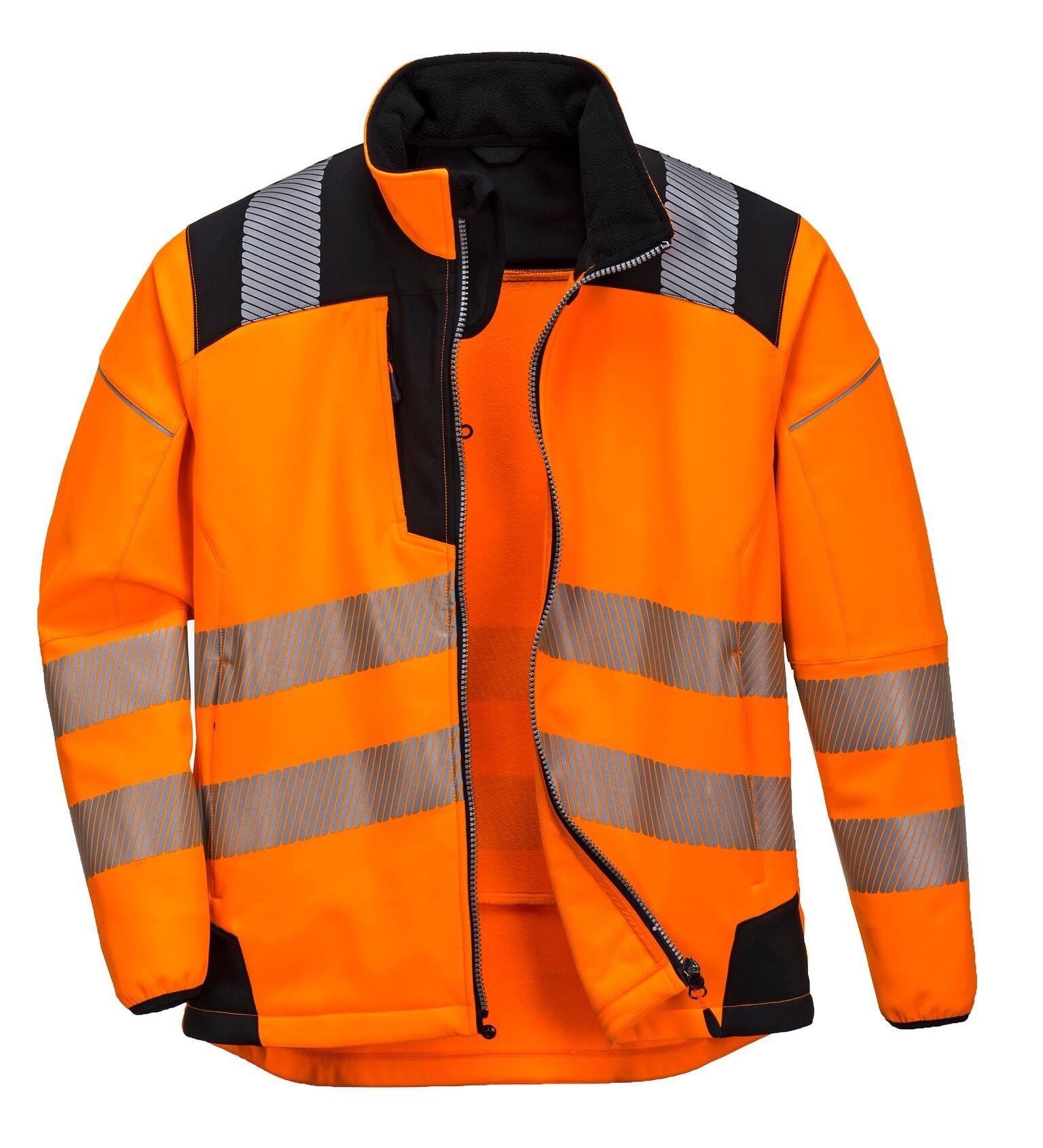 Vison Hi Viz Softshell jacket Orange