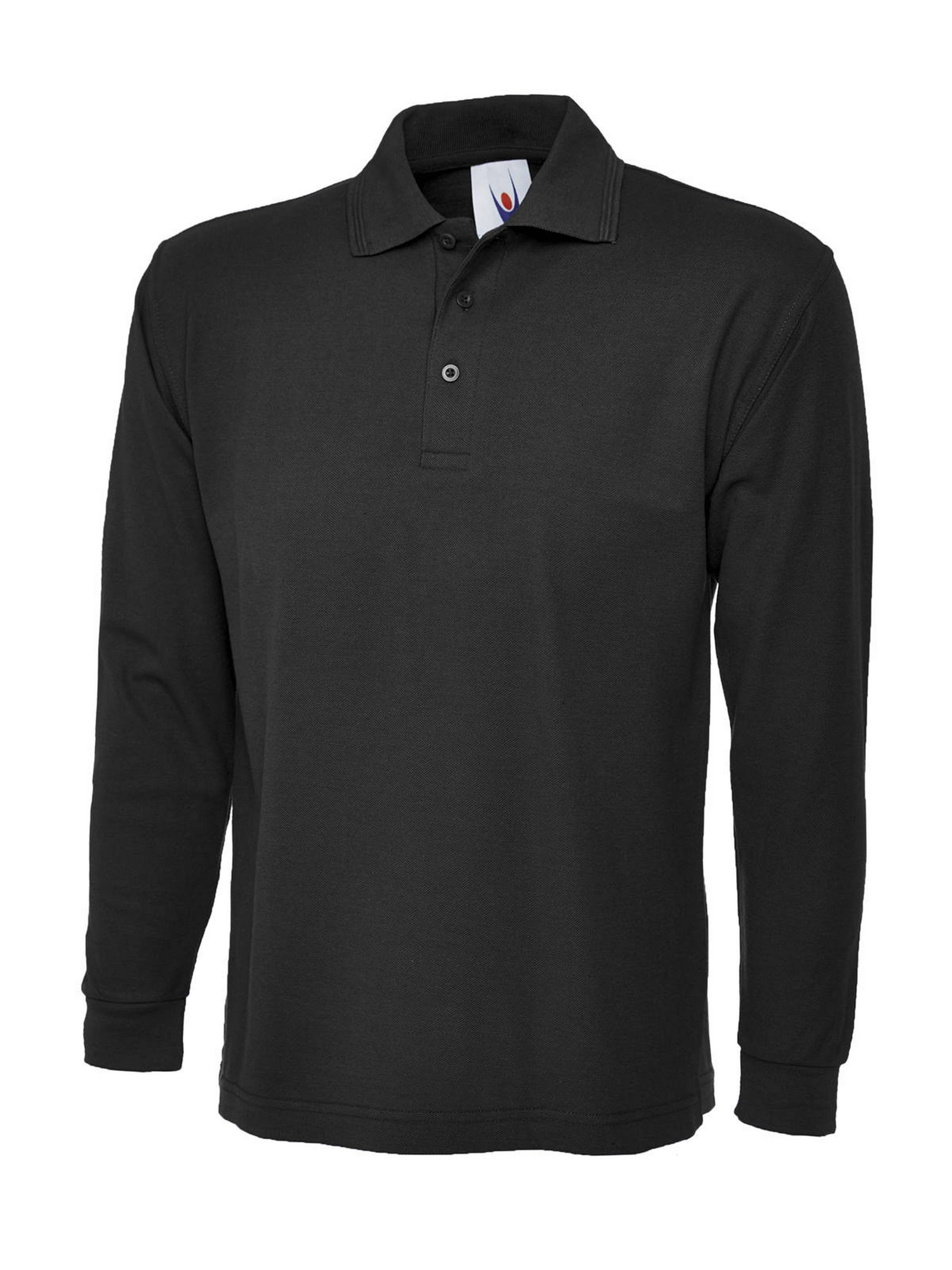 Uneek Long Sleeve Pique Polo Shirt