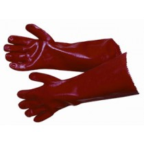 A 14 Inch Red PVC Gauntlet