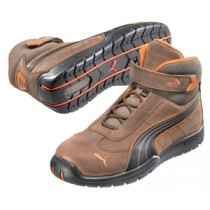 Puma Waxy Leather Motorsport Style Safety Boots