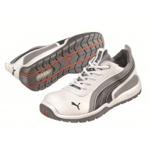Puma MONACO LOW White Microfibre Motorsport Style Safety Shoes
