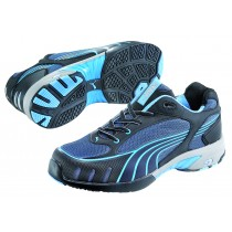 Puma FUSION MOTION BLUE LADIES LOW Breathable Textile Upper Trainer Safety Shoes