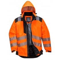 Vision Hi  Viz Rain Jacket Orange