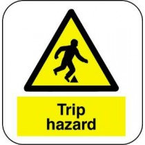 Floor Vinyl Safety Sign 400 X 600MM
