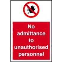 Self Adhesive Vinyl Safety Sign 200 X 300M